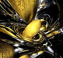 Gold Fever Abstract by Alexander Butler