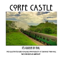 Corfe Castle - it's quicker by rail... by phil hemsley