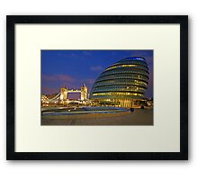 London Old and New Architecture Framed Print