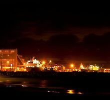 Night Time At The Port Geraldton WA by Tawnydal