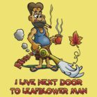 LEAF BLOWER MAN TEE-SHIRT by NHR CARTOONS .