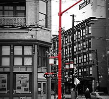 On the corner of West Pender and Carrall Street by Anna Vegter