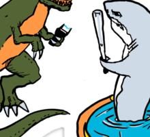 Shark Vs T-Rex Sticker
