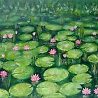 Water lilies, green by olivia-art