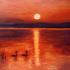Evening mood with ducks by olivia-art