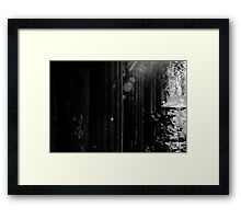 Ancient names fragments - Jewish cemetery in Katowice Framed Print