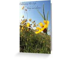 Celebrating Her Life. Today and always. Greeting Card