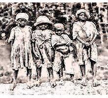 Civil War Slave Children Photographic Print