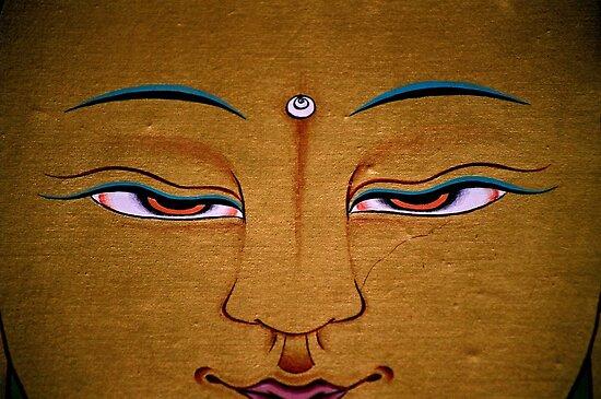 detail. tibetan painting, india by tim buckley | bodhiimages