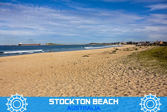 The Golden Sands Of Stockton Beach by reflector