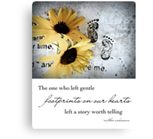 Footprints on our Hearts Canvas Print