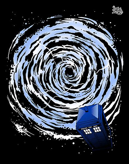 Vortex TARDIS Poster by zerobriant