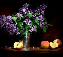 Lilac and peaches Still life by Ondřej Smolka
