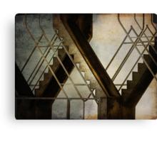 stairs & steel Canvas Print