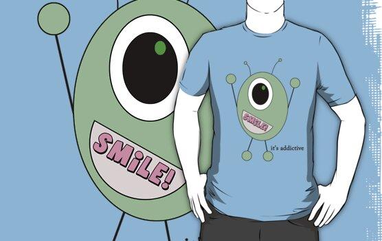smiley alien by Ashley P
