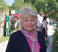 Judith Chalmers at the Chelsea Flower Show by Keith Larby