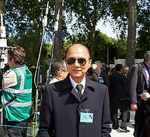 Jimmy Choo at the Chelsea flower show by Keith Larby