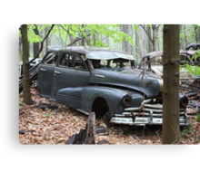 August Old Motor Car Canvas Print
