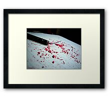 """""""Your only as loud as the noises you make"""" - Fireworks and eraser shavings Framed Print"""