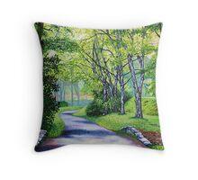 'Summer's Languid Path' Throw Pillow
