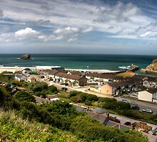 Portreath from the hillside by Rob Hawkins