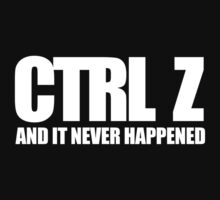 CTRL Z by Kate Bloomfield