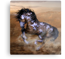 The Wild,The Free Painted Horse Metal Print