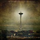 Seattle Space Needle by Barbara Zuzevich