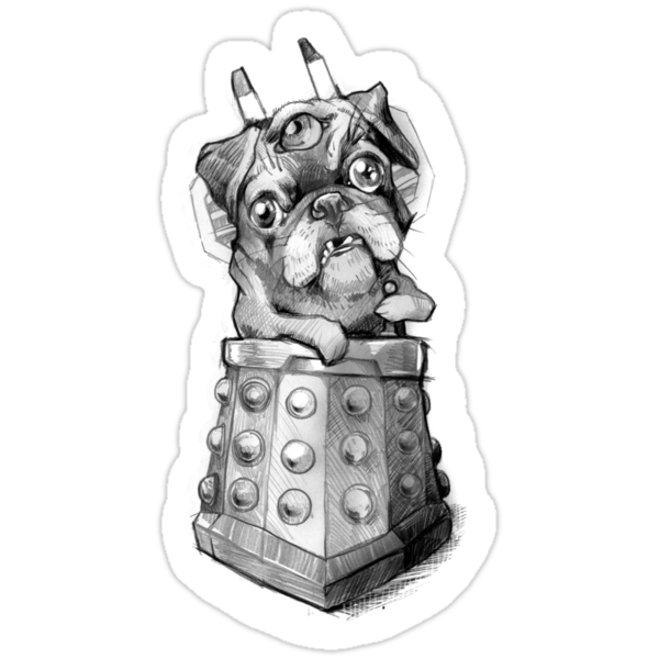 Dr Who Shirt - Pug-Ros by jimiyo