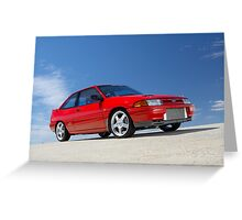 Red Ford Laser TX3 4WD Turbo Greeting Card