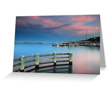 Sunset on the Docks Greeting Card