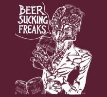 Beer Sucking Freaks (white) by SCARstudios