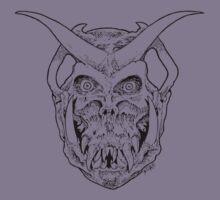 Horned Skull (black) by SCARstudios
