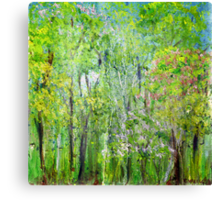 Little Flowering Trees Canvas Print