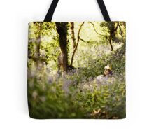 Sitting in the forest Tote Bag