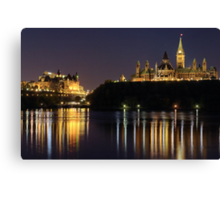 Canadian Parliament & Chateau Laurier - Night Canvas Print