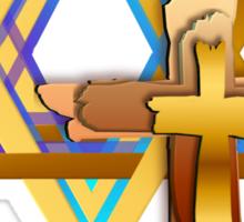 Star Of David and Triple Cross Sticker