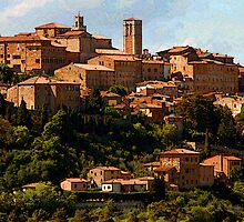 Another Tuscan hill town-Montepulciano, Italy by John Taylor