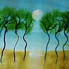 Trees(green) Series #2, watercolor by Anna  Lewis