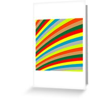 Colored stripes Greeting Card