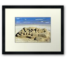 The lonely beach sculptor Framed Print