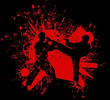 The Bloody Duel of Taekwondo fighters by elangkarosingo