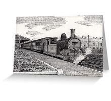 197 - STEAM TRAIN AT BLYTH (INK) 1994 Greeting Card