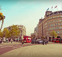Trafalgar & Strand in the Afternoon by Cheryl LaPrade
