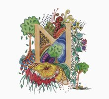 M - an illuminated letter by wiccked