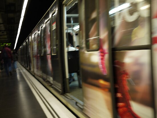 Barcelona Metro Blur by Phoenix55