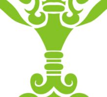 Zodiac Sign Libra Green Sticker