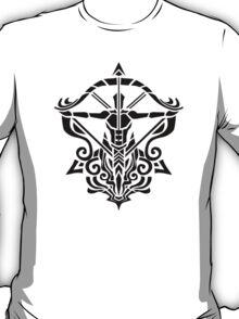 Zodiac Sign Sagitarius Black  T-Shirt