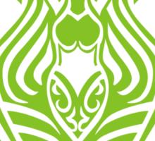 Zodiac Sign Aquarius Green Sticker