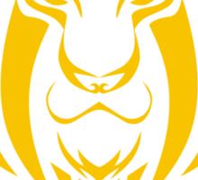 Zodiac Sign Leo Gold Sticker